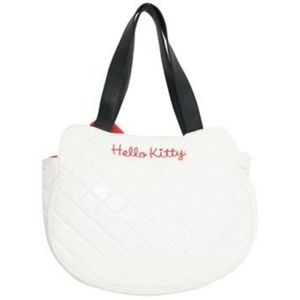 c1e87bc50 Loungefly Bags | Hello Kitty White Quilted Face Tote Bag | Poshmark